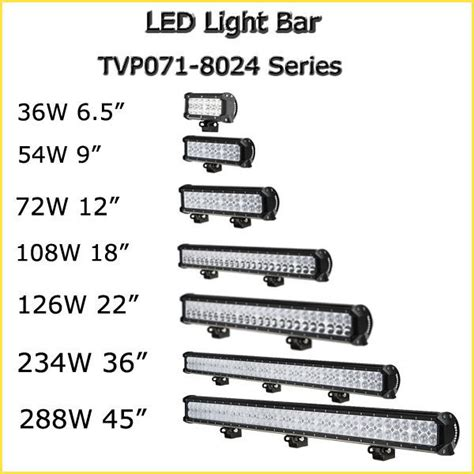 high quality 10 30 v 8100 lumen led bar brightest road