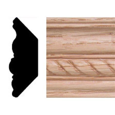 Oak Crown Molding by 13 16 In X 2 11 32 In X 8 Ft Oak Emboss Rope Crown