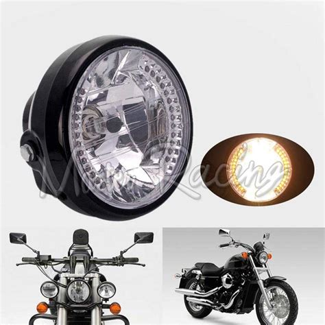 "7"" Motorcycle Motorcycle Headlight H4 35w Motorbike Amber"