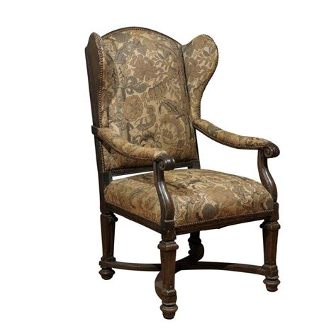 18th century upholstered wingback chair for sale