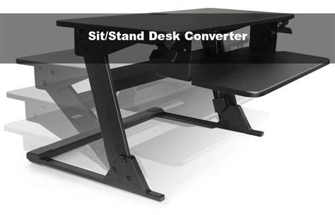 convert your desk to a stand up desk best standing desk converter pyramid reviews