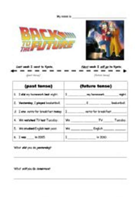 back to the future esl worksheet by rscottsf