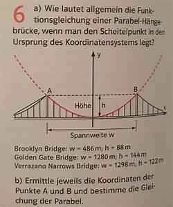 Quadratische Funktionen Scheitelpunkt Berechnen : parabel funktionsgleichung einer parabel h ngebr cke ~ Themetempest.com Abrechnung