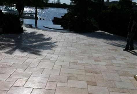travertine patio tile