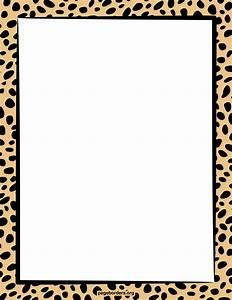 Giraffe Print Border Clipart