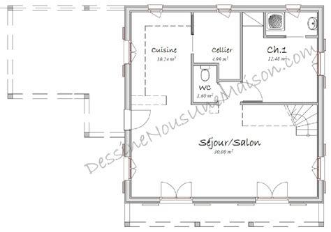 plan de cuisine ouverte plans gratuits de maisons avec cuisine ouverte américaine