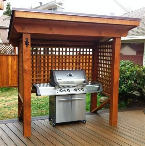 wooden bbq cover 21 grill gazebo shelter and pergola designs shelterness