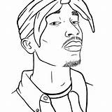 Tupac Coloring Drawings 2pac Drawing Sheets Cardi Outline Sketches Rapper Tattoos Guy Tattoo Draw Printable Crazy Shakur Afro Sketch Pencil sketch template