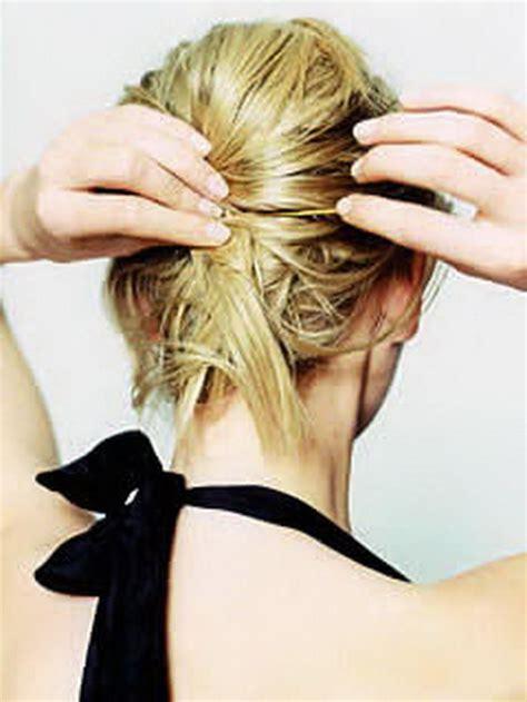 haare hochstecken schnell einfach kurze haare hochstecken