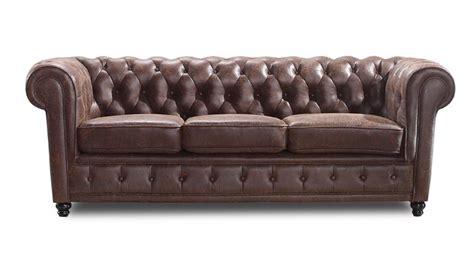 canap chesterfield cuir vieilli canapé chesterfield liverpool 3 places en tissu mobilier