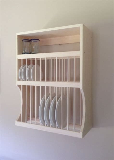 large  small plate rack  shelf  nicoletwoodproducts  diy plate rack plate