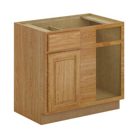 unfinished blind corner base cabinet 36x34 5x24 in sink base cabinet in unfinished oak sb36ohd