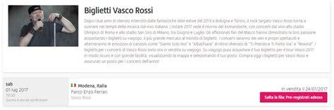 Viagogo Vasco by Biglietti Concerto Vasco Modena Park Diffida