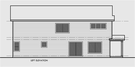 Narrow Lot House Plans With Rear Garage by Narrow Lot Duplex House Plans With Rear Garage D 608