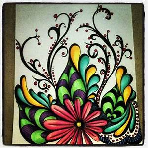 Simple Abstract Flower Drawings | www.imgkid.com - The ...