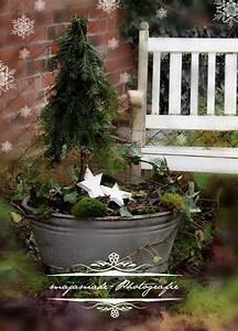 Advent Deko Für Draußen : christmas deco zinkwanne mit mini tanne deko pinterest zinkwanne blickfang und t ren ~ Orissabook.com Haus und Dekorationen