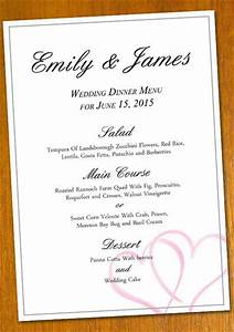 free wedding menu template for a diy projectnote you With wedding menu samples templates