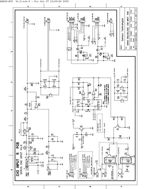 Samson Servo Power Amplifier Schematics Service Manual