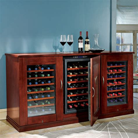 Trilogy Wine Credenza - trilogy wine cellar credenza at brookstone buy now