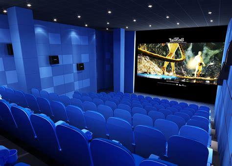 Blue cinema interior design