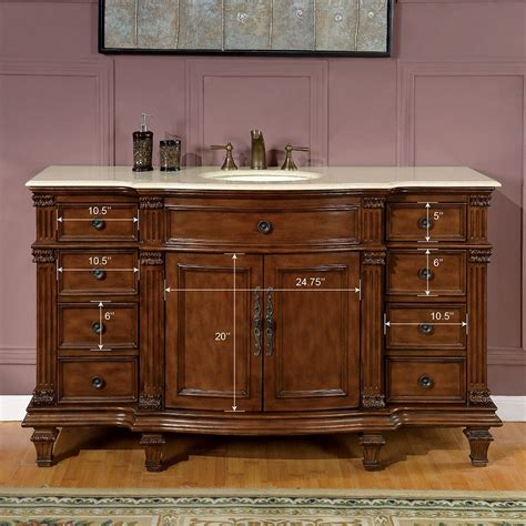 When you buy silkroad exclusive 52 inch small brown double sink bathroom vanity, granite, traditional or any storage & organization product online from us, you become part of the houzz family and can expect exceptional customer service every step of the way. Patagonia (single) 60-inch Traditional Bathroom Vanity