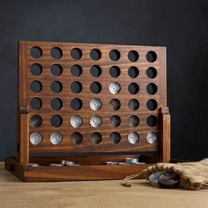 Wood and Aluminum Connect Four Game - The Green Head