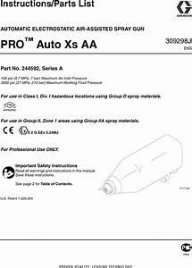 Graco Inc 244592 Users Manual 309298j Pro Auto Xs Aa