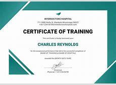 Training Certificate Template 27+ Free Word, PDF, PSD