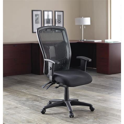 chair office mesh executive chairs fabric tall lorell ergonomic amazon seat lumbar kitchen spine most support air x45 bk x28