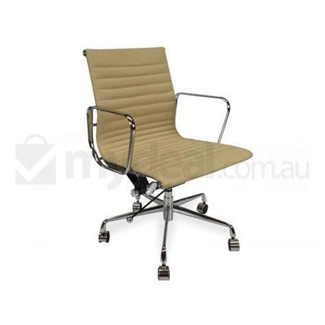 replica eames aluminium leather office chair brown buy