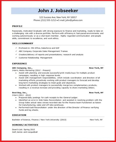14899 student resume template word resume format for student creative resume design