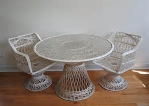 russell woodard spun fiberglass patio set phylum furniture