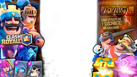 Clash Royale Thumnail Template by Overlay Clash Royale Askabaal V2 By Flopperdesigns On