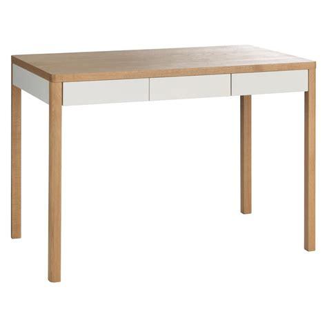oak bureau desk albion 3 drawer oak desk buy now at habitat uk