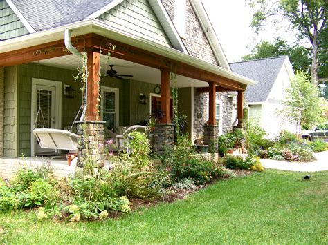 patio in front of house simple and easy low maintenance front yard landscaping ranch house design with herb and