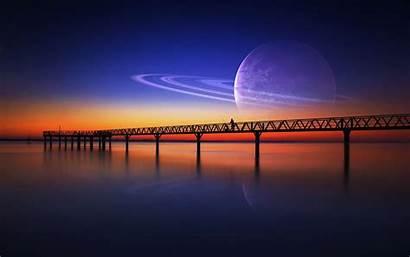 Dreamy Desktop Wallpapers Fantasy Backgrounds Saturn Moon