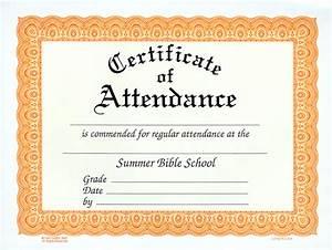 Perfect Attendance Certificate Template 10 Best Images Of Certificate Of Attendance Attendance Certificate Template Blank Attendance