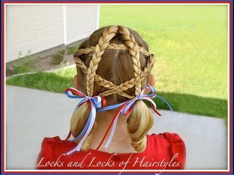 patriotic star   july hairstyle youtube