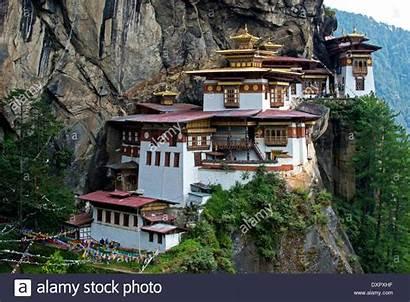 Bhutan Paro Taktsang Palphug Nest Alamy Monastero