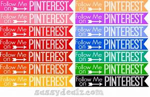 Free Pinterest Button and Icon Sets to Download - Sassy Dealz