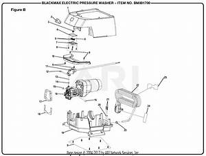 Homelite Bm801700 3000 Electric Pressure Washer Mfg  No  090079274 Parts Diagram For Figure B