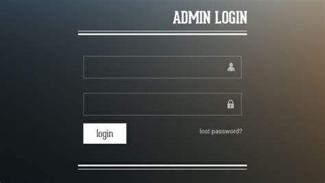 Form Admin Login Template Psd File