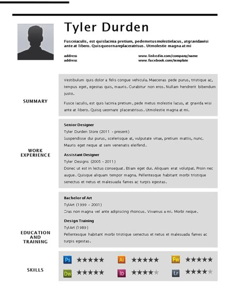 Where Can I Find Resumes For Free by Where Can I Find A Professional Resume Template For