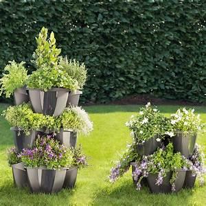 Pro Idee Garten : etagen pflanzturm 3 jahre garantie pro idee ~ Watch28wear.com Haus und Dekorationen