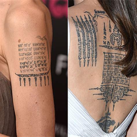 angelina jolies tattoos   sweet meanings