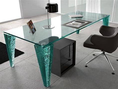 glass home office desk modern glass desk design ideas 1821 desk design glass