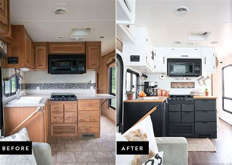 rv kitchen design tiny kitchen remodel the reveal of our rv kitchen renovation 2076