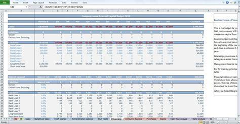 gym budget template cfotemplatescom