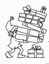 Gift Coloring Popular sketch template