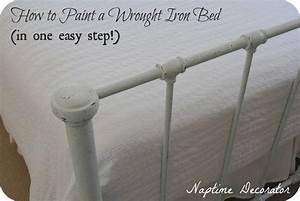 How to Paint a Wrought Iron Bed Frame (in one easy step!)